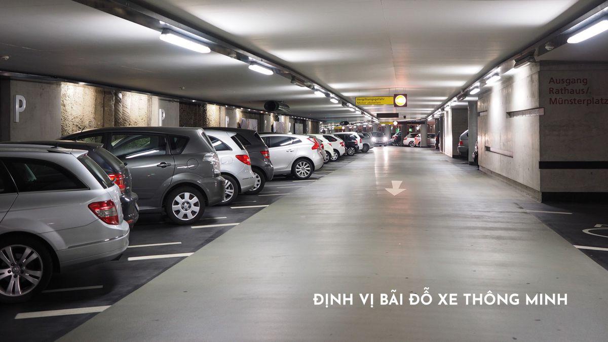 định vị bãi đỗ xe thông minh tại căn hộ happy one thạnh lộc quận 12
