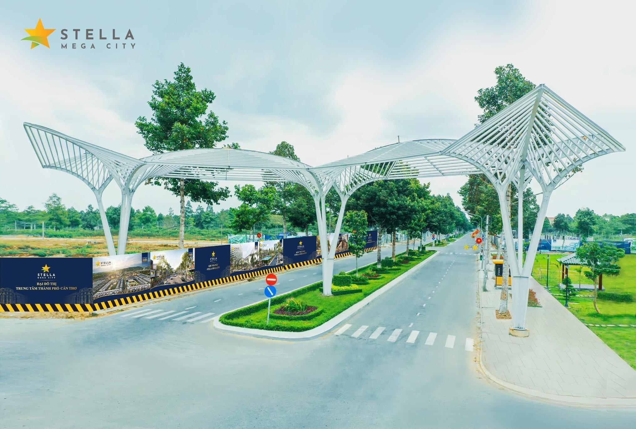 cổng chào dự án stella mega city cần thơ